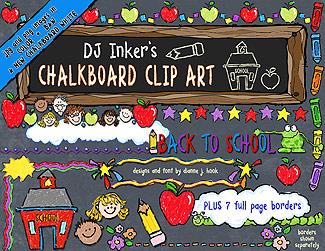 Clip art borders in. Chalk clipart school