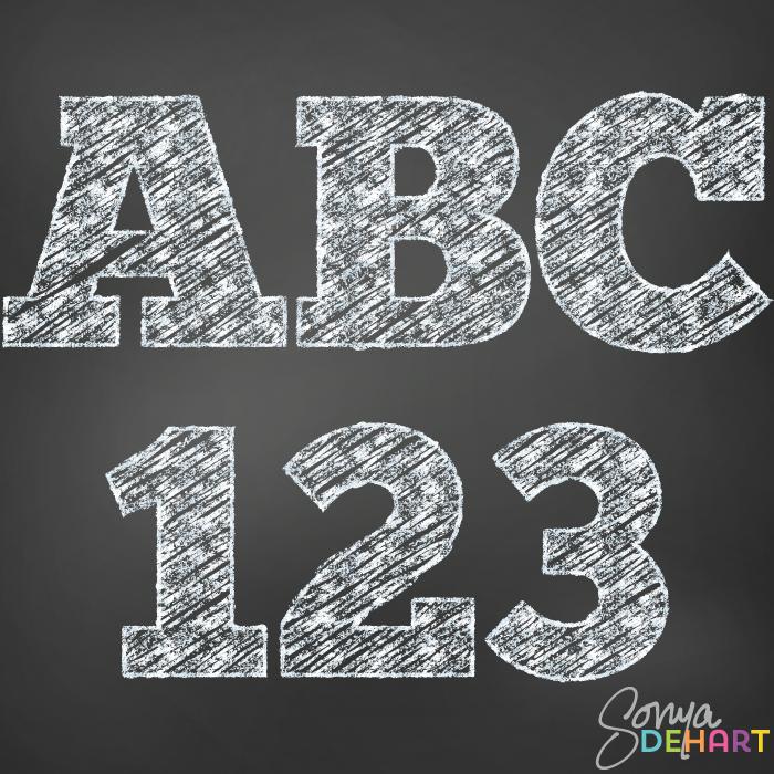 Chalk clipart school. Clip art digital alphabet