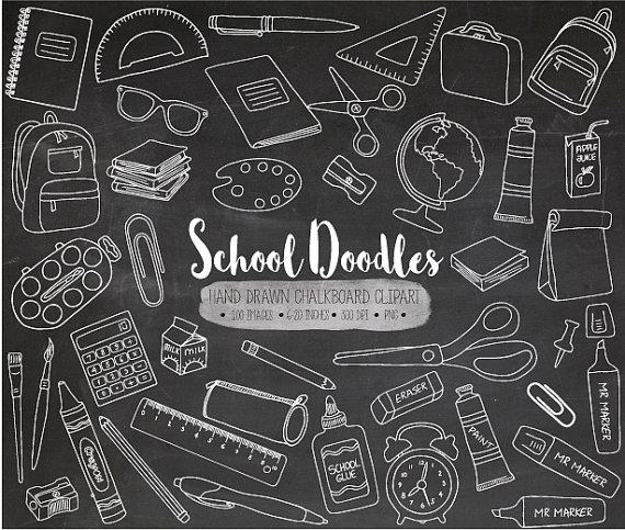 Chalkboard hand drawn texture. Chalk clipart school