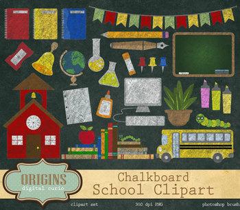 Chalkboard back to clip. Chalk clipart school