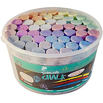 Chalk clipart sidewalk chalk. Amazon com yoobi bucket
