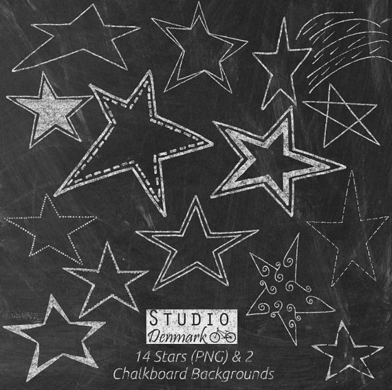 Chalk stars and bonus. Chalkboard clipart chalkboard background
