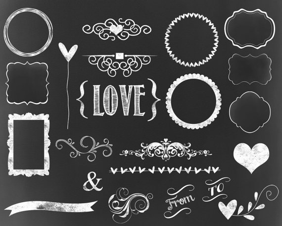 Chalk clipart wedding. Chalkboard typography