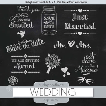 Chalk clipart wedding. Best chalkboard products on