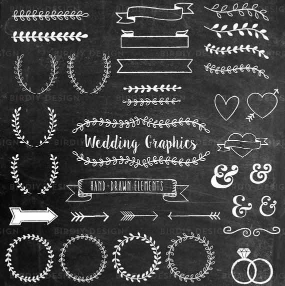 Chalk clipart wedding. Chalkboard rustic boho clip