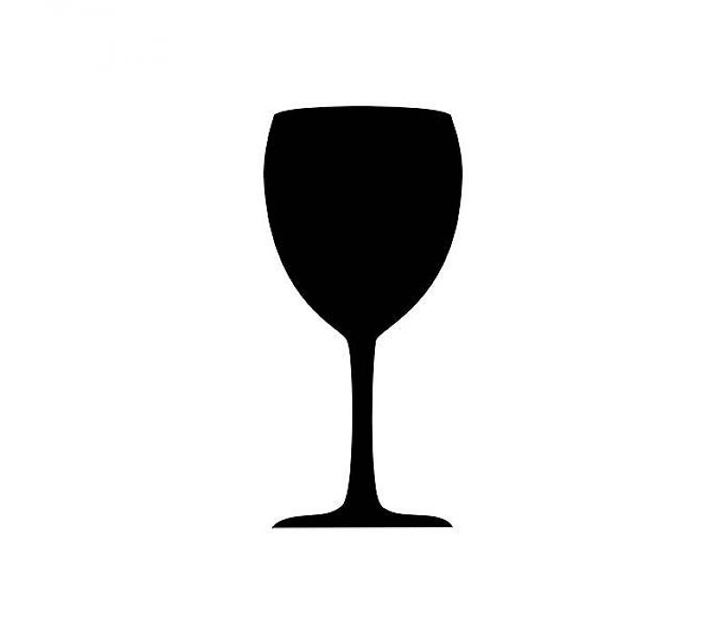 Chalk clipart wine glass. Silhouette at getdrawings com