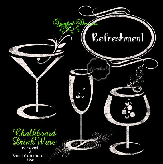 Chalk clipart wine glass. Chalkboard glasses by