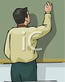 Chalkboard clipart teacher. Picture of a writing