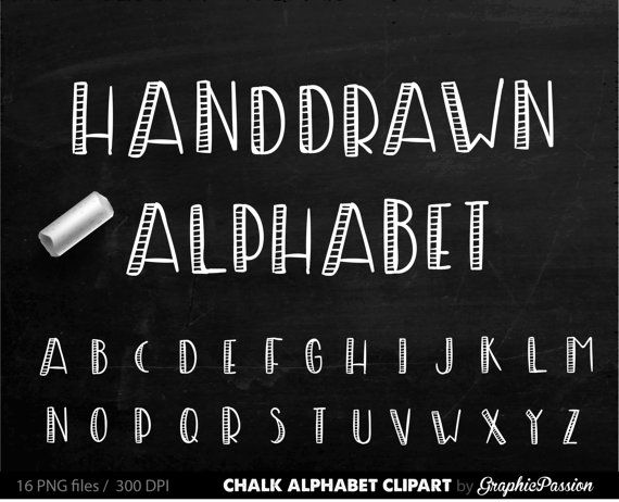 Chalk clipart writing. Alphabet chalkboard digital clip