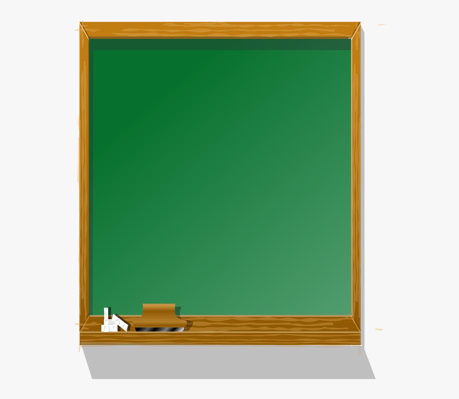 Chalkboard clipart. Blackboard education eraser board