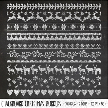 Chalkboard clipart boarder. Chalk christmas borders holiday