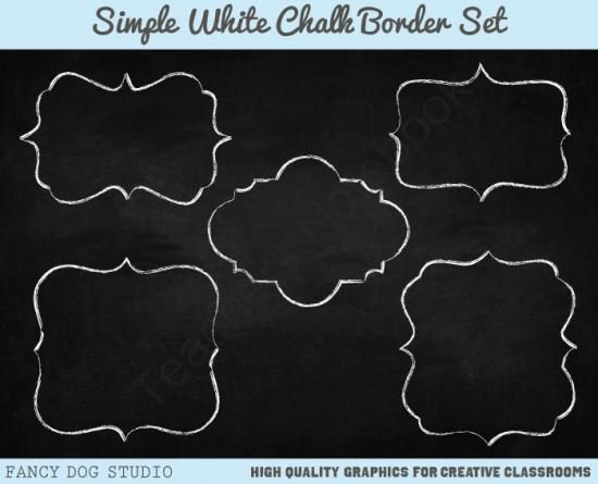 Background clipart chalkboard. Chalk border with images