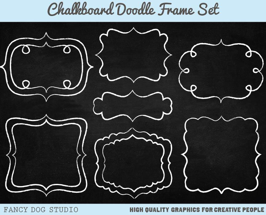 Chalkboard clipart boarder. Border portal