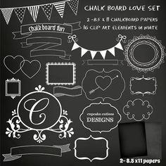 Instant download chalk board. Chalkboard clipart chalkboard sign
