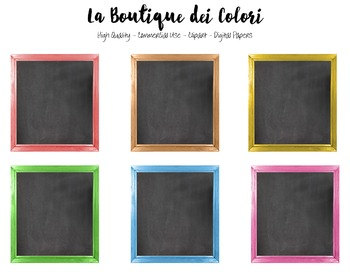 Chalkboard clipart cute. Colorful framed