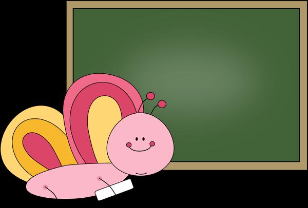 Butterfly clip art image. Chalkboard clipart cute
