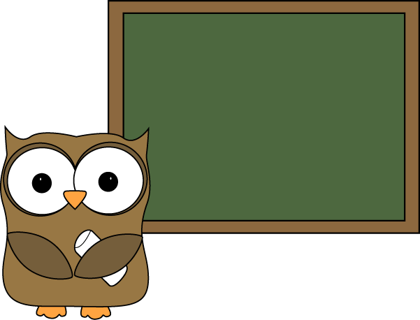 Chalkboard clipart cute. Owl and blank for