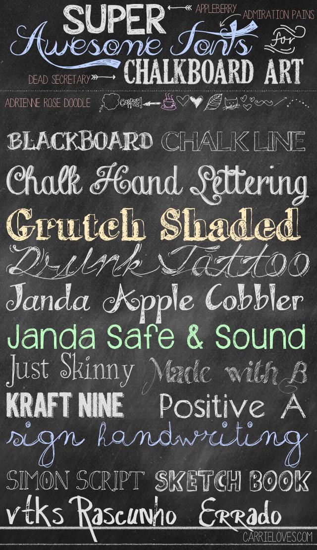 Fabulous font friday chalkboards. Chalkboard clipart easy