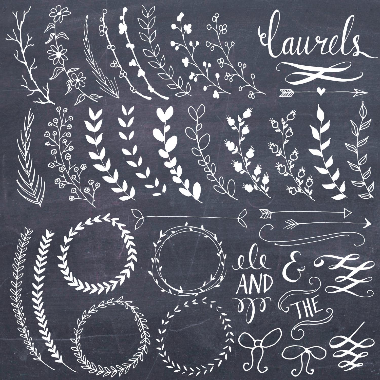 Chalkboard clipart easy. Clip art laurels wreaths