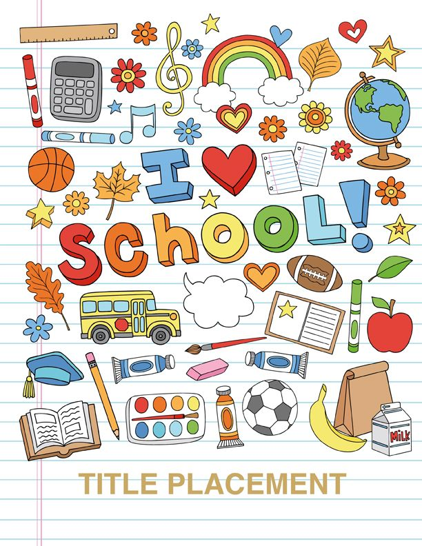 Yearbook covers company annual. Chalkboard clipart elementary school