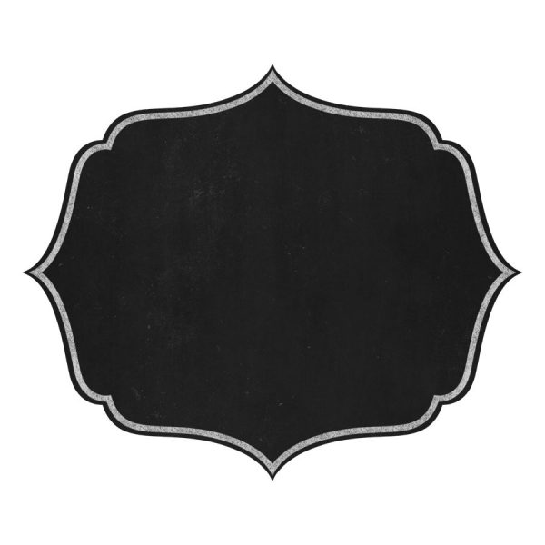 Labels clip art chalk. Chalkboard clipart frame