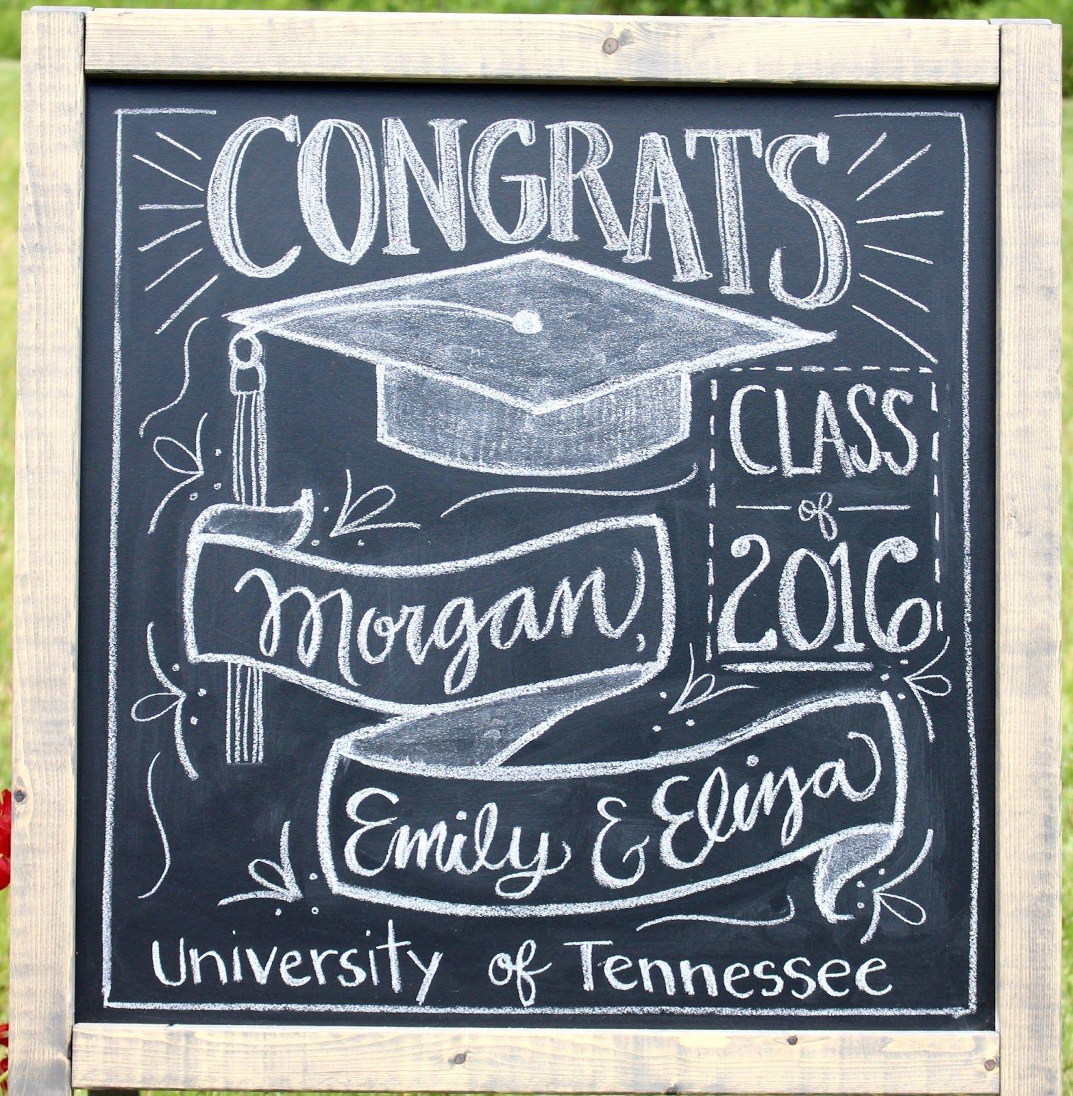 Chalkboard clipart graduation. Party decoration idea miss