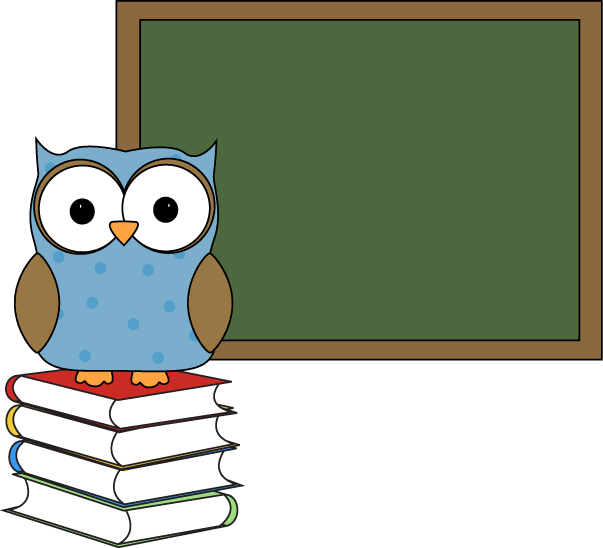Winter clipart owl. Green chalkboard panda free