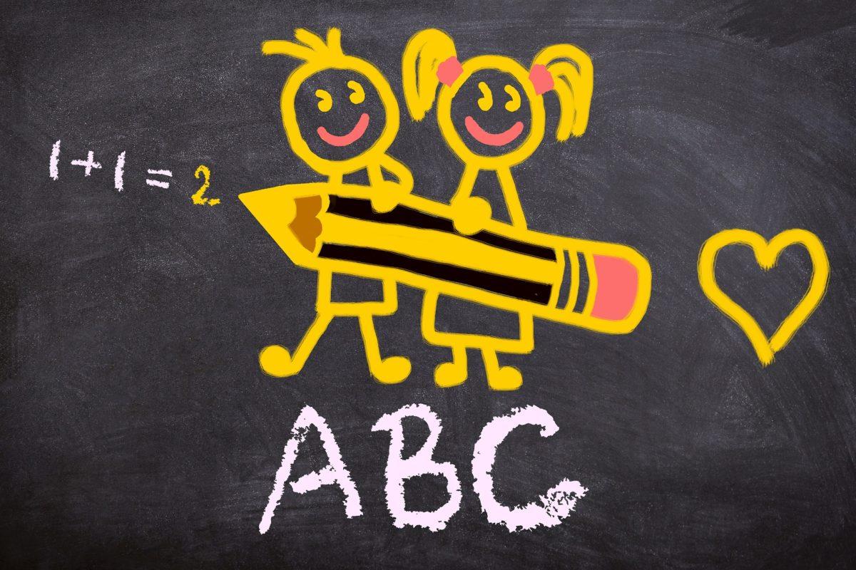 Chalkboard clipart kindergarten.  enrollment and screening