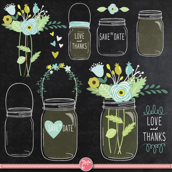 Clip art jarclip flowers. Chalkboard clipart mason jar