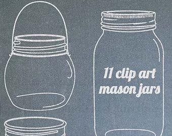 Clip art for wedding. Chalkboard clipart mason jar