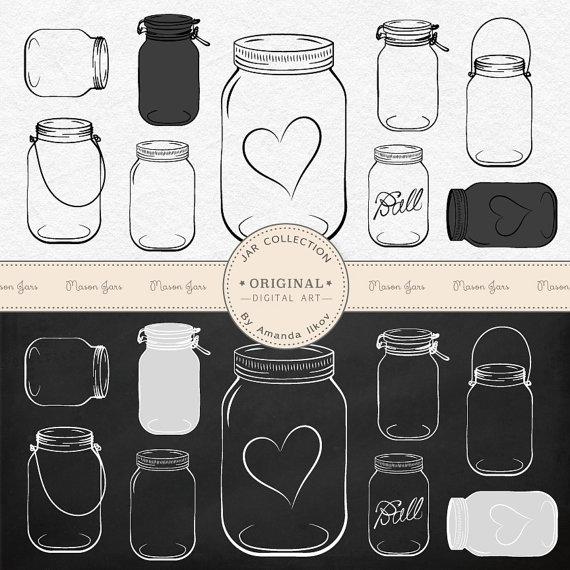 Chalkboard clipart mason jar. Professional clip art vectors