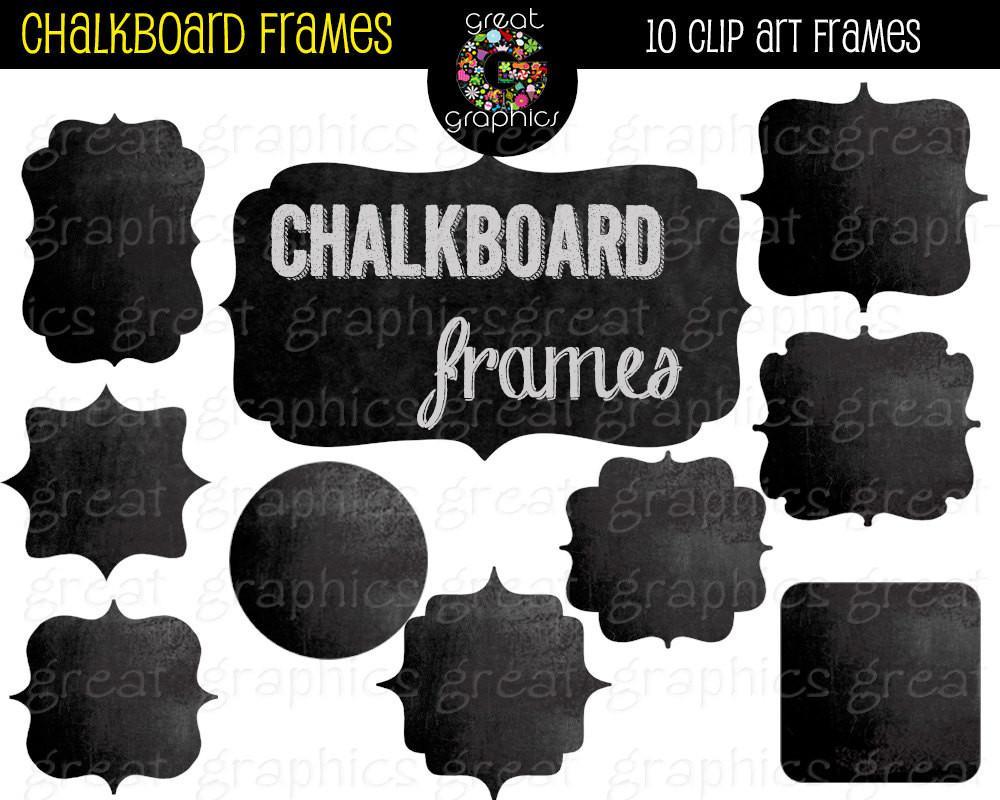 Frame digital frames instant. Chalkboard clipart printable