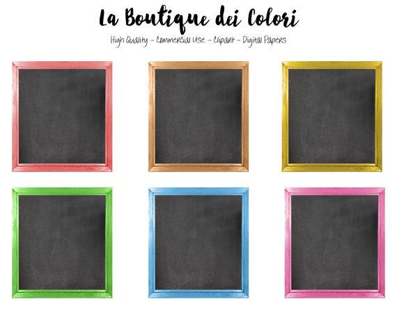 Framed chalkboards tags digital. Chalkboard clipart square