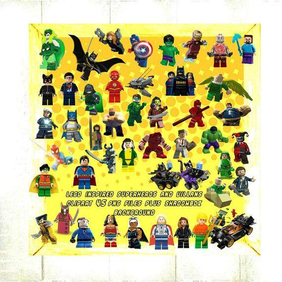 Lego inspired villains tblsimplydigital. Chalkboard clipart superhero