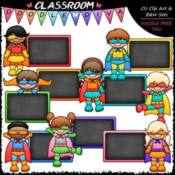 Chalkboard clipart superhero. Colorful kids clip art