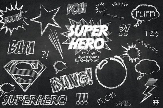 Chalkboard clipart superhero. Cliparts super hero clip