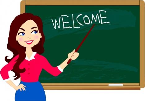 Chalkboard clipart teacher. Back to school background