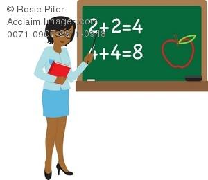 Clip art illustration of. Chalkboard clipart teacher