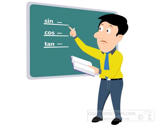 Chalkboard clipart teacher. Mathematics math solving on