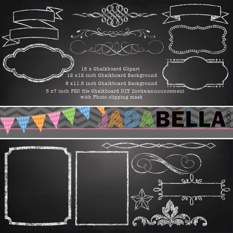 Blank Chalkboard Invitation Template from webstockreview.net