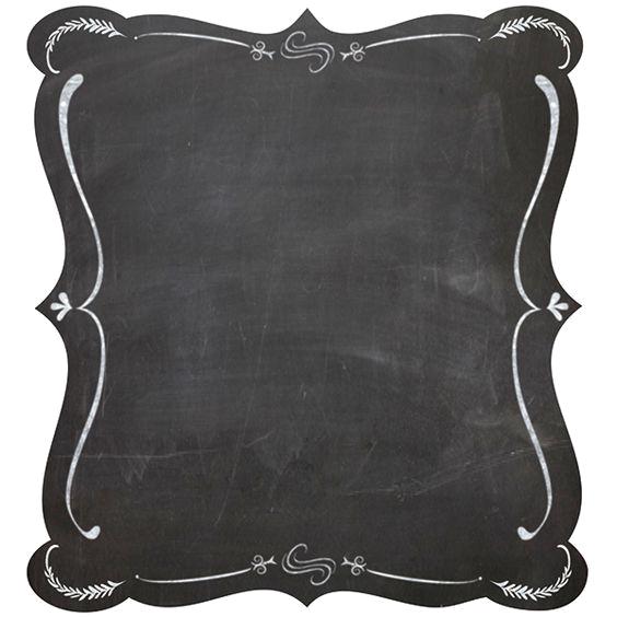 Blackboard picture frame clip. Chalk border png