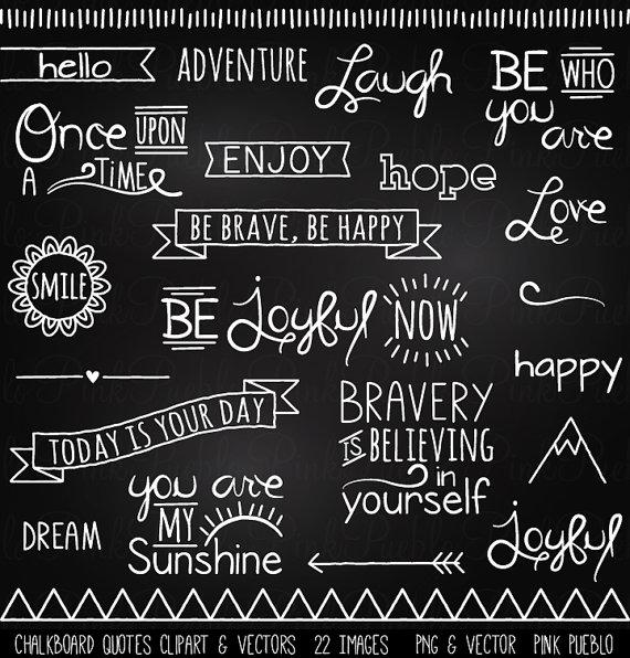 Quotes clip art chalk. Chalkboard clipart vector