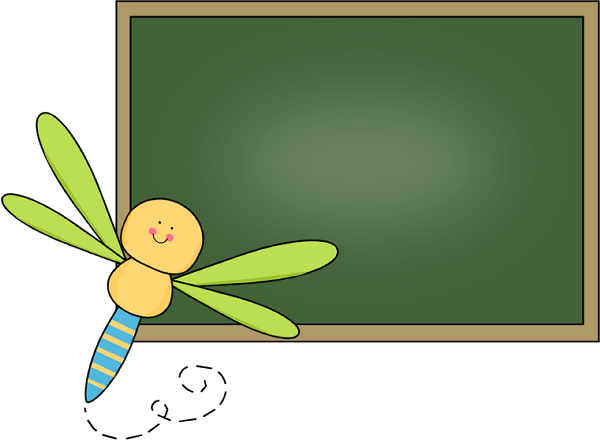 Background clipart chalkboard. Clip art images dragonfly