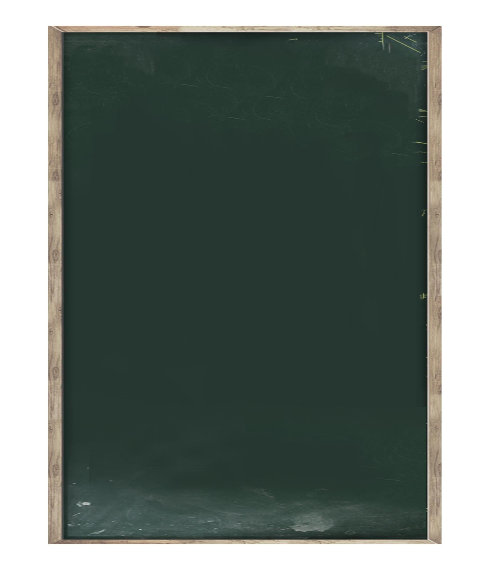 Green picture blackboard transprent. Chalkboard frame png