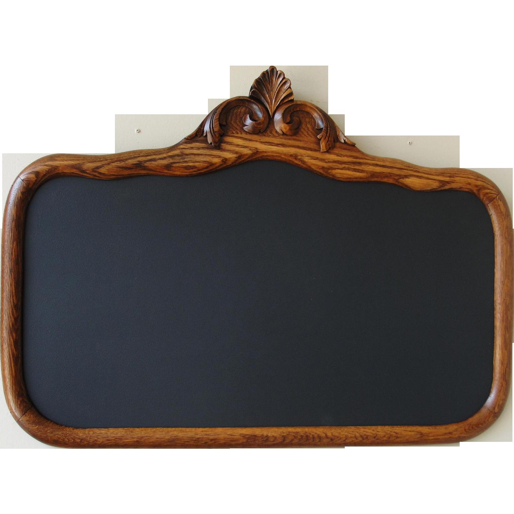 Chalkboard frame png. Vintage oak sold ruby