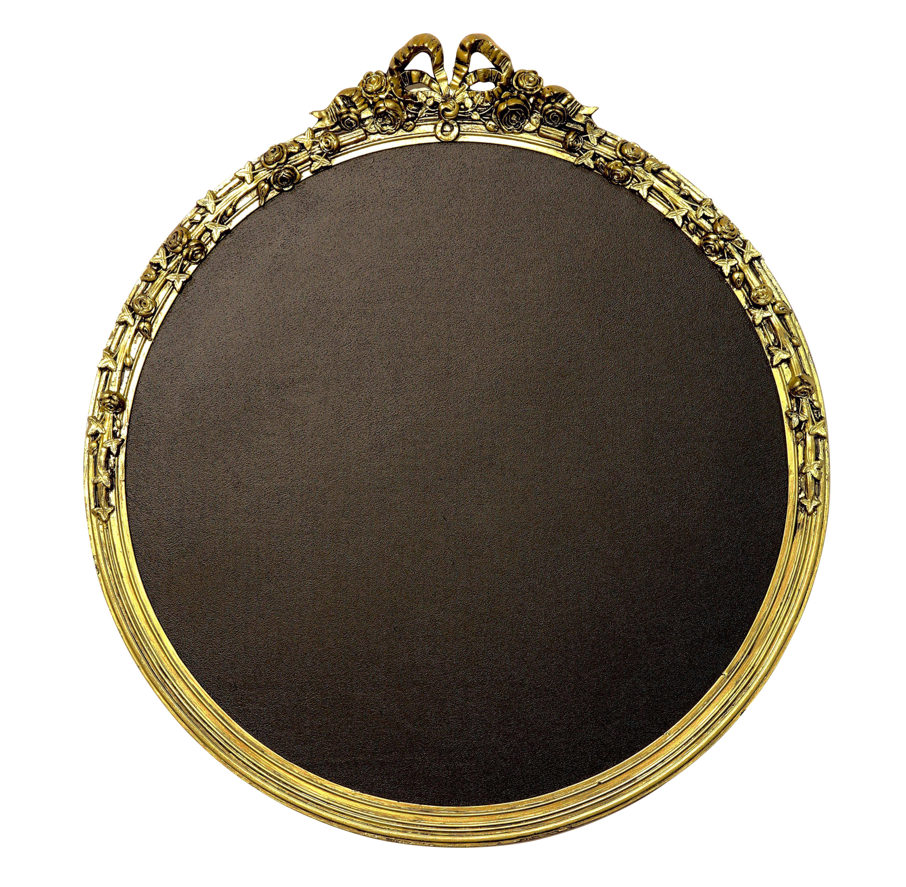 Round gold framed chairish. Chalkboard frame png