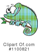 Chameleon clipart. Illustration by toonaday royaltyfree