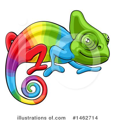Illustration by atstockillustration . Chameleon clipart