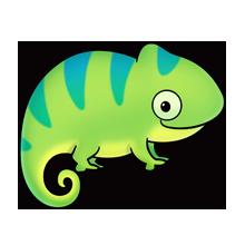 Fluff favourites pinterest chameleons. Chameleon clipart adorable