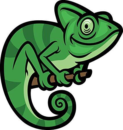 Chameleon clipart adorable. Amazon com cute smiling